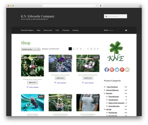 Boutique business WordPress theme - knedwardsco.com