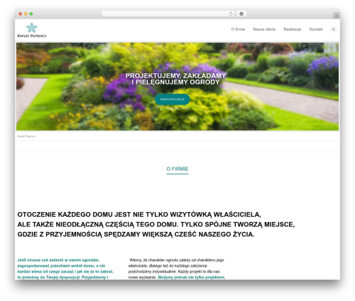 Flexform WordPress theme - kwiat-paproci.com