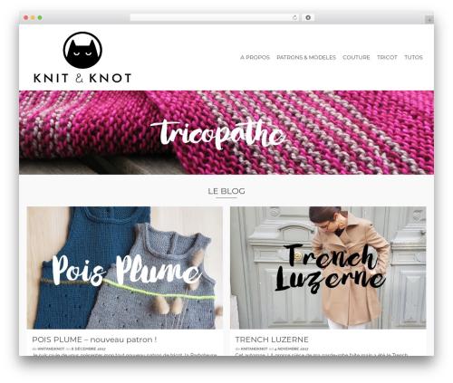Pinnacle free WP theme - knitandknot.net