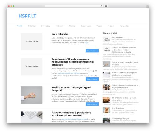 Split top WordPress theme - ksrf.lt