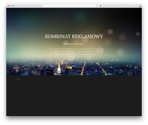 Template WordPress Salient - kombinat-reklamowy.pl