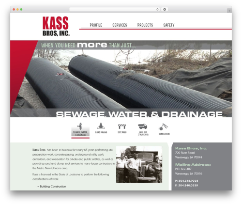 WordPress template Master Theme - kassbros.com