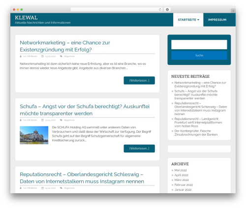 Allgemein Theme - Schema Lite Child WordPress theme - klewal.de