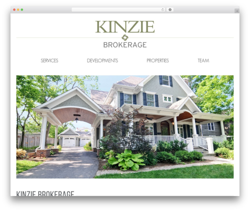 Avada business WordPress theme - kinzieproperties.com