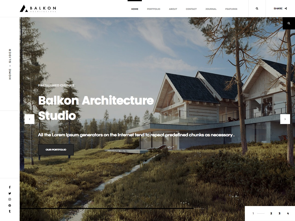 Balkon wallpapers WordPress theme
