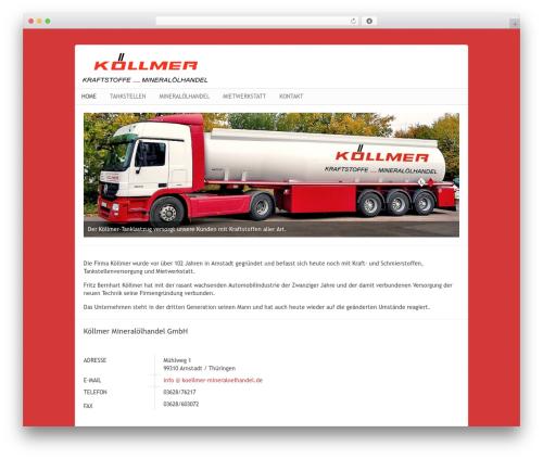 Best WordPress theme Nano2 - koellmer-mineraloelhandel.de