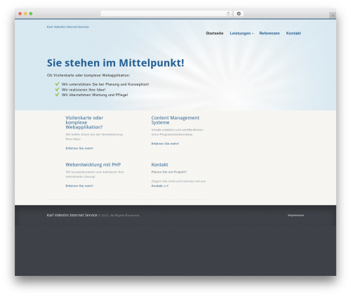 Biznizz WordPress theme - kvis.de