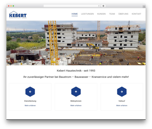 Harest best free WordPress theme - kebert.at