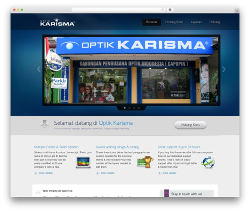 Theme WordPress Envision Child - karismaoptik.com