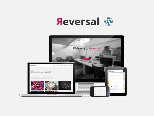WordPress theme Reversal (shared on Theme123.Net)