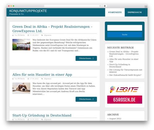 Allgemein Theme - Schema Lite Child template WordPress - konjunkturprojekte.de
