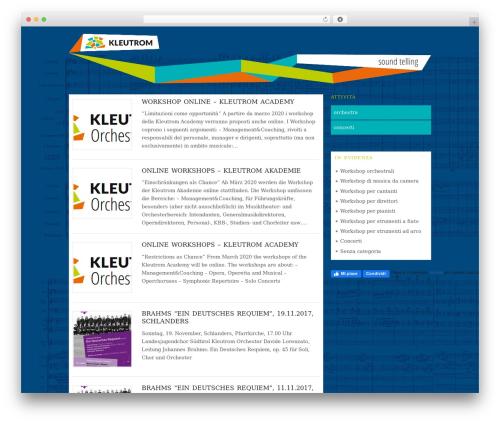 Best WordPress template Origin - kleutrom.eu