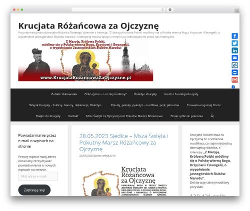 GeneratePress WordPress page template - krucjatarozancowazaojczyzne.pl
