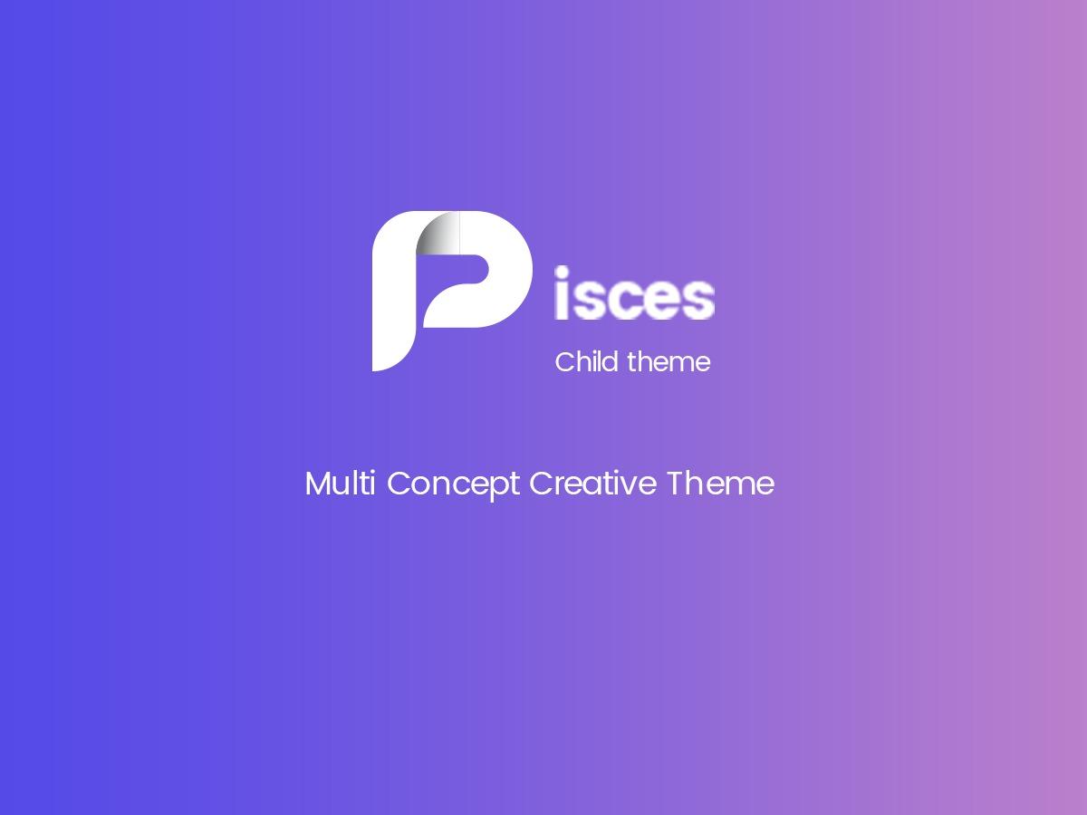 pisces child WordPress theme design