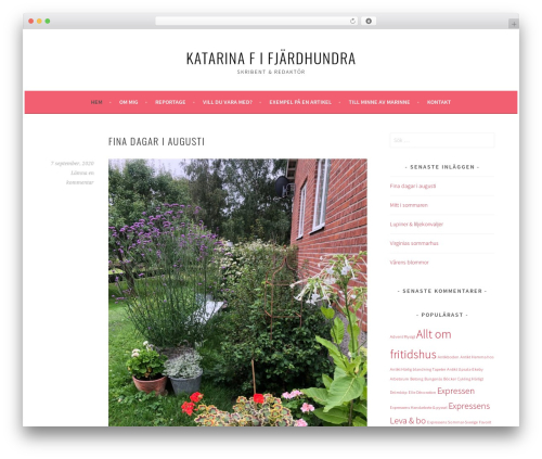 Sela theme WordPress free - katarinaf.se