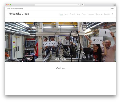 Template WordPress Dante - korsunsky.org