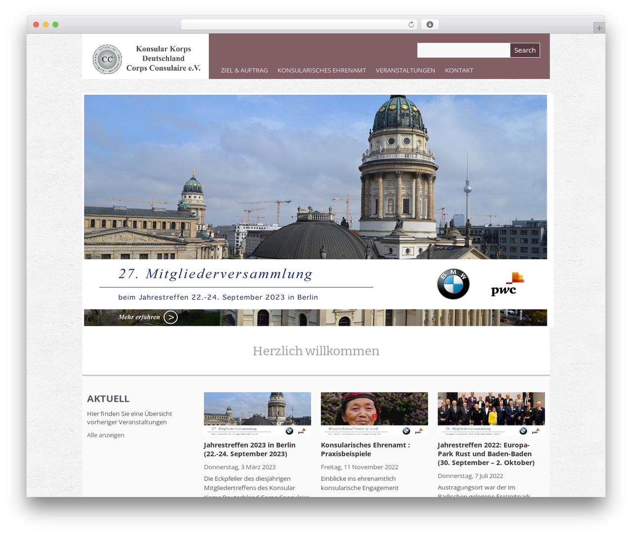 Theme WordPress Yasmin - konsularkorpsdeutschland.de