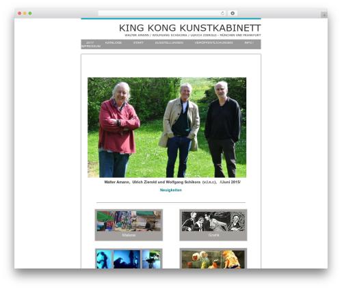 WordPress website template PhotoPress - kingkongkunstkabinett.de