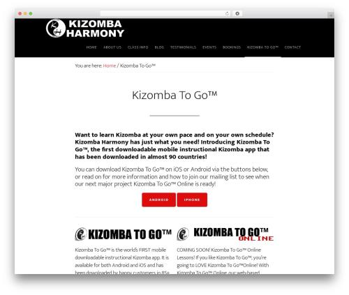 Altitude Pro WP template - kizombaharmony.com/kizombatogo