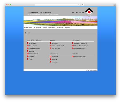 BLANK Theme best WordPress theme - kbo-hillegom.nl