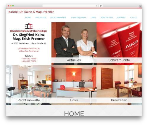 Onetone template WordPress free - kanzlei-kainz.at