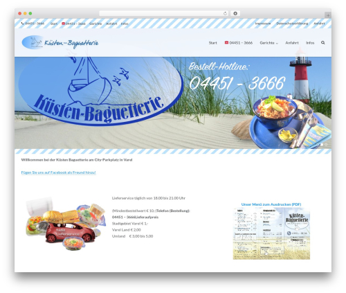 Theme WordPress Ultra - kuesten-baguetterie.de