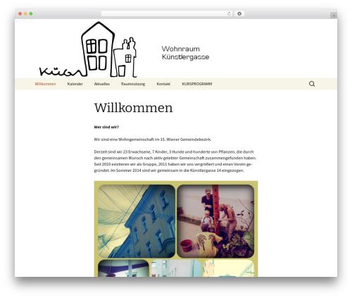 Twenty Thirteen best free WordPress theme - kuenstlergasse.at