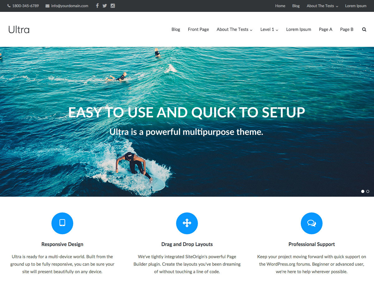 Ultra business WordPress theme