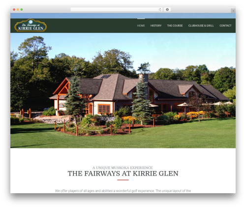 WordPress theme Leisure - kirrieglen.ca