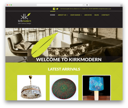 WordPress x-shortcodes plugin - kirkmodern.com