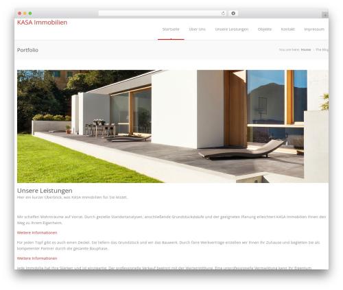 Astrum top WordPress theme - kasaimmobilien.de