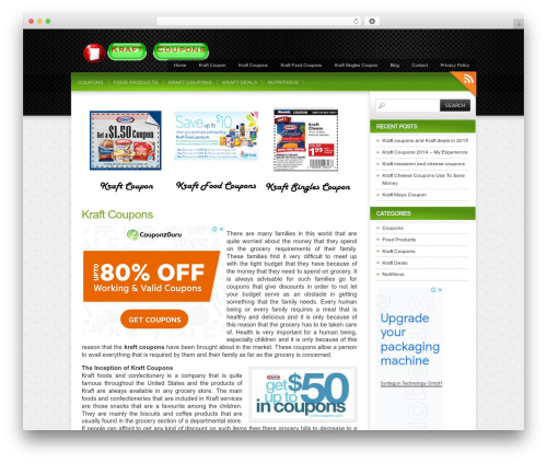 Colorbold WordPress website template - kraftcoupons.org