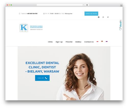 Dentario WordPress template - klinikastomatologiczna.pl