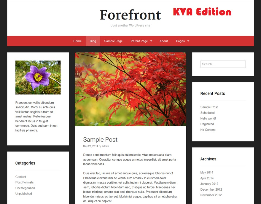 Forefront WP template