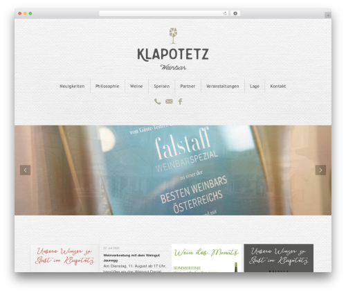 Jupiter WordPress theme - klapo.at