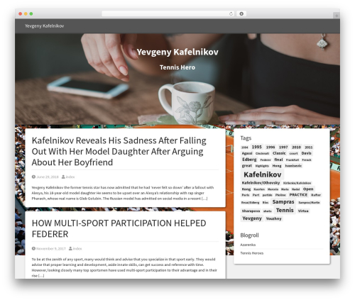 Simple Bootstrap free WP theme - kafelnikovfan.net