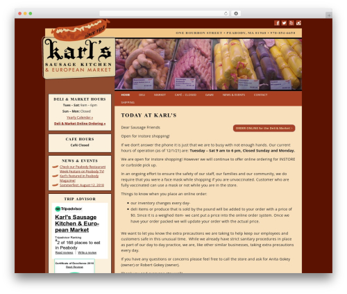 Twenty Twelve template WordPress free - karlssausage.com