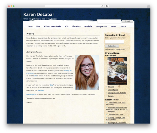 Best WordPress theme Pretty Parchment - karendelabar.com