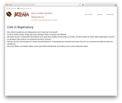 Brasserie Pro garden WordPress theme - konacoffee.de