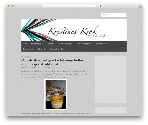 Gridiculous WordPress theme - kristineskrok.com