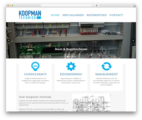 Hero best WordPress theme - koopmantechniek.nl