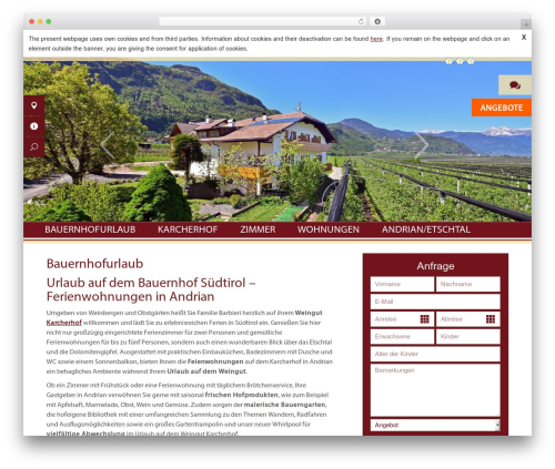 Karcherhof theme WordPress - karcherhof.com