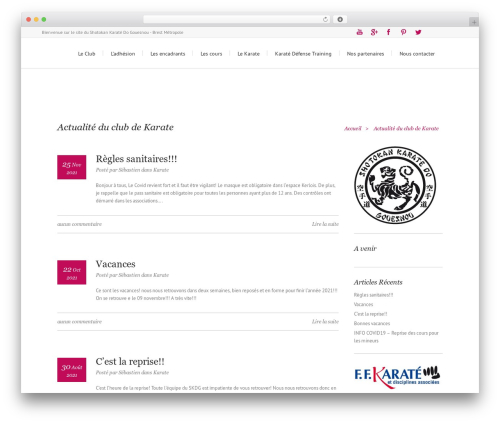 Lounge WordPress template - karate-gouesnou.org