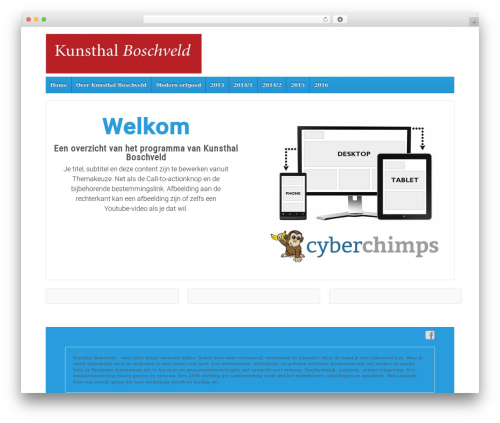 Responsive best WordPress theme - kunsthalboschveld.nl