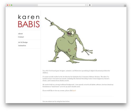 ShapeShifter 2 template WordPress - karenbabis.com