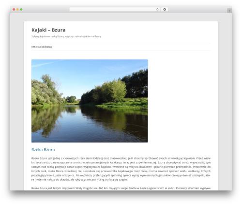 Twenty Twelve theme WordPress - kajaki-bzura.com