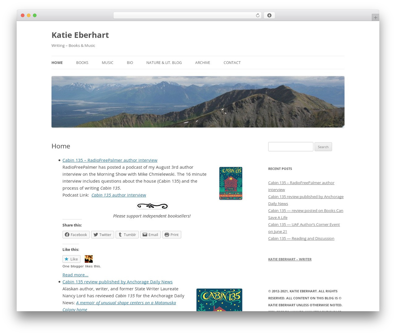 Twenty Twelve WordPress template free - katieeberhart.com
