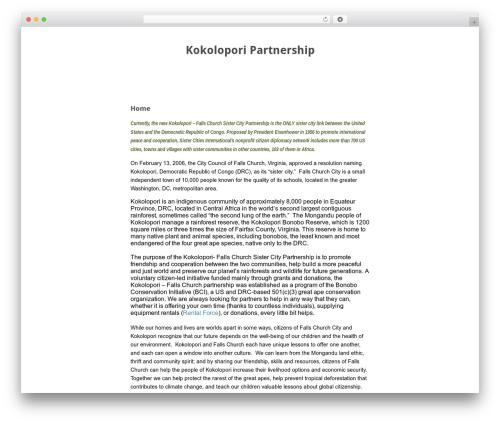 WordPress theme Baris - kokolopori-partnership.org