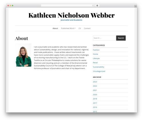 WordPress theme Daniela - kathleennwebber.com