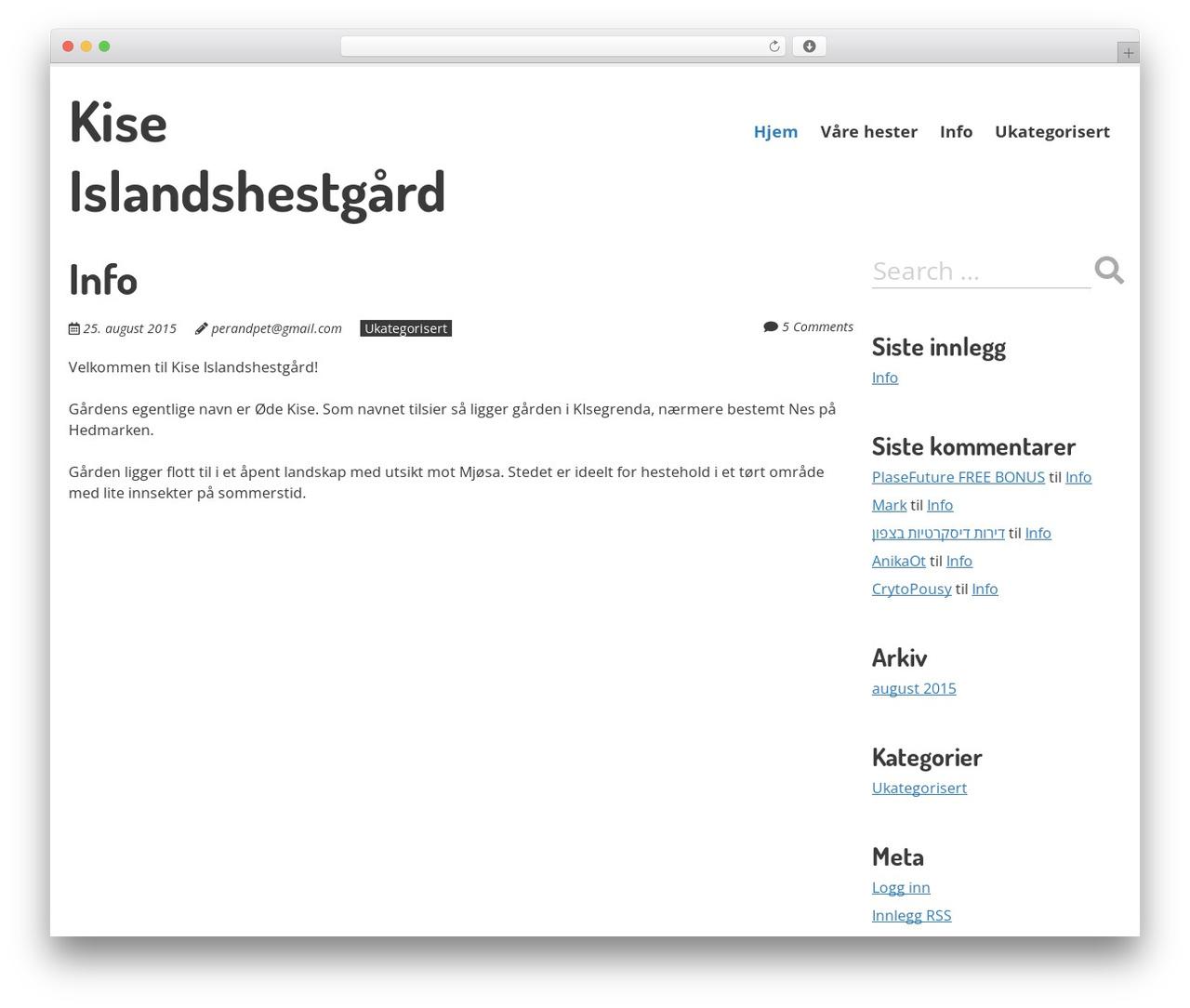 WordPress website template Ephemeris by ahortin - kiseis no